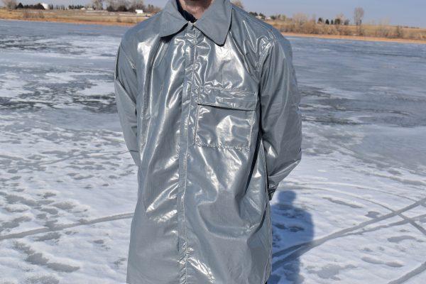 vapor barrier shirt close up