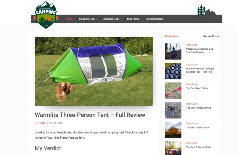 Professional Camping.com