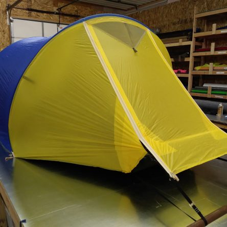 *QUICK SHIP* Climbers Three-Person Blue/Yellow Tent