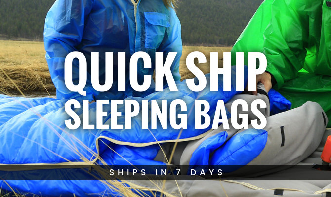 Quick Ship Sleeping Bags from Warmlite Ship in 7 Business Days