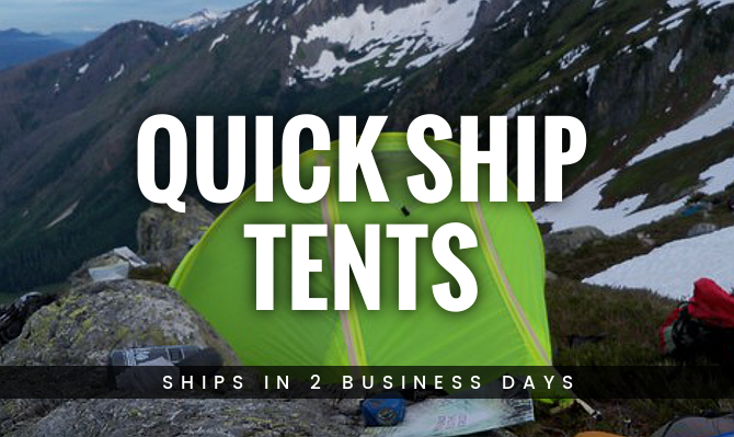 Quick Ship Tents from Warmlite Ship in 2 Business Days