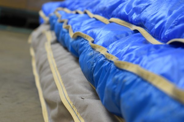 down filled sleeping bag